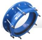 连接钢管的单范围法兰适配器